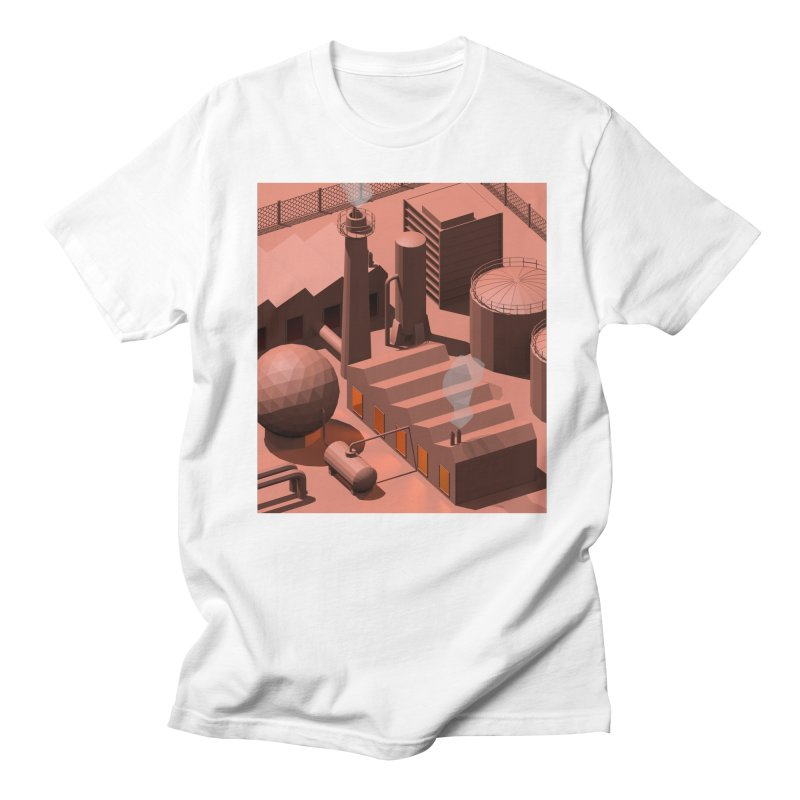 Low Poly Industry Men's T-Shirt by Rickard Arvius
