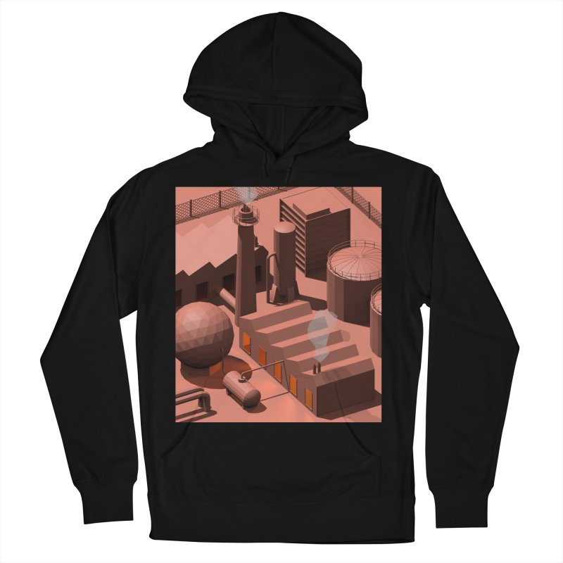 Low Poly Industry Women's Pullover Hoody by Rickard Arvius
