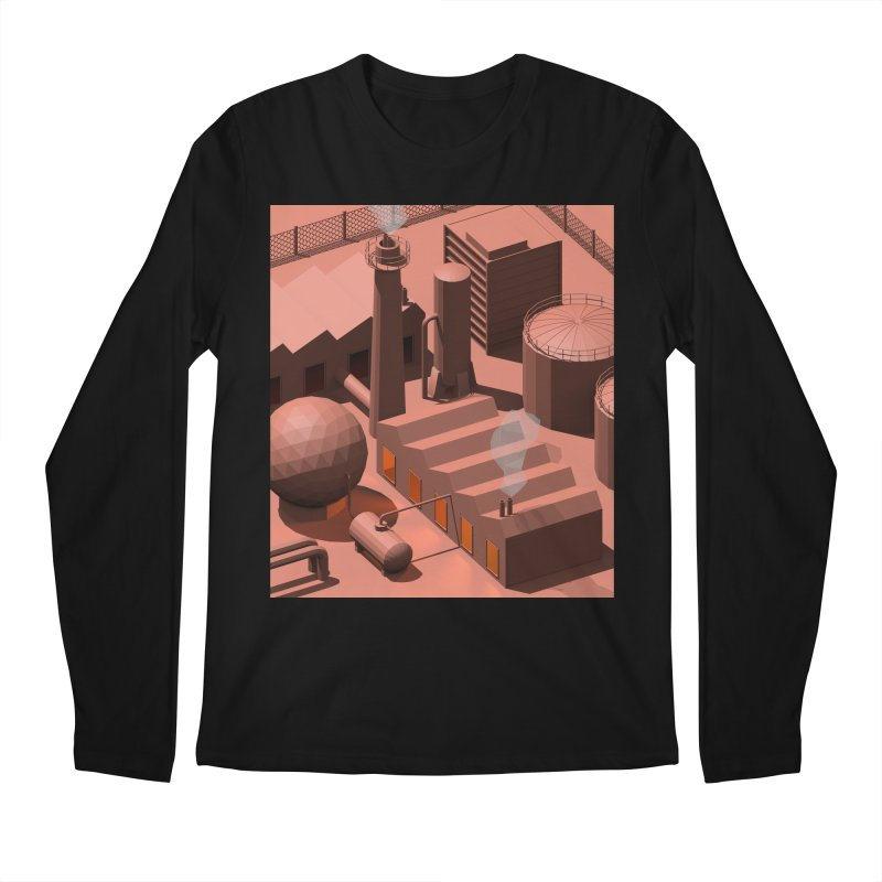 Low Poly Industry Men's Longsleeve T-Shirt by Rickard Arvius