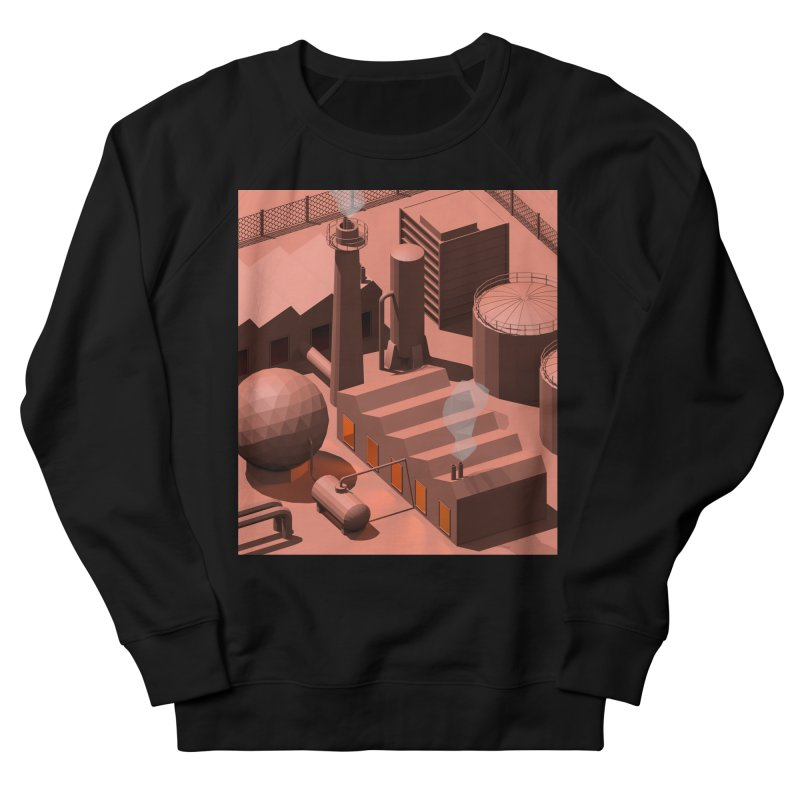 Low Poly Industry Women's French Terry Sweatshirt by Rickard Arvius