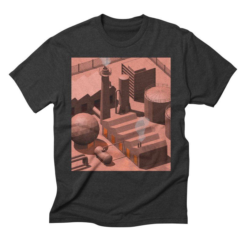 Low Poly Industry Men's Triblend T-Shirt by Rickard Arvius