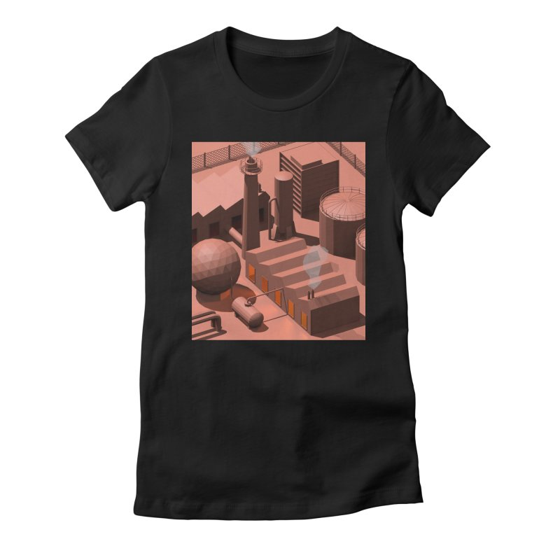 Low Poly Industry Women's T-Shirt by Rickard Arvius