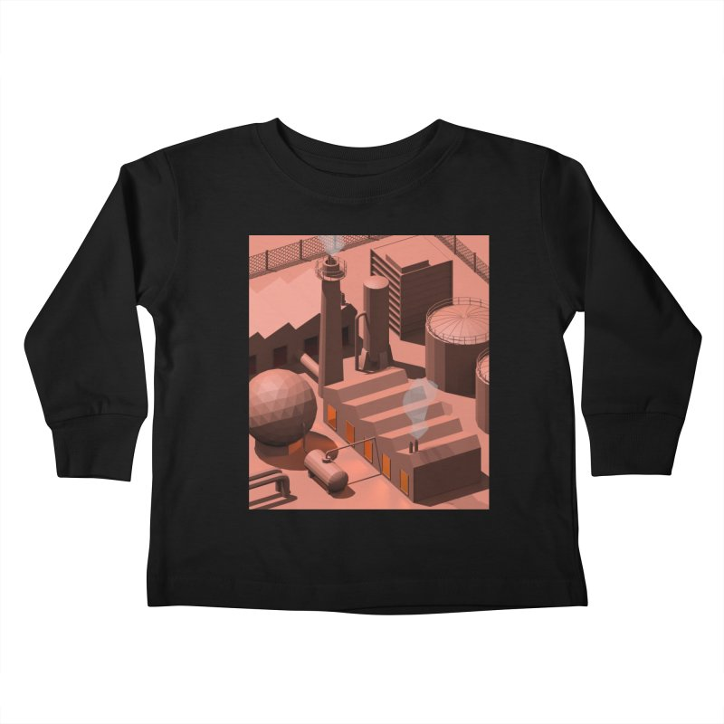 Low Poly Industry Kids Toddler Longsleeve T-Shirt by Rickard Arvius