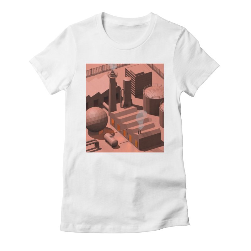 Low Poly Industry Women's Fitted T-Shirt by Rickard Arvius