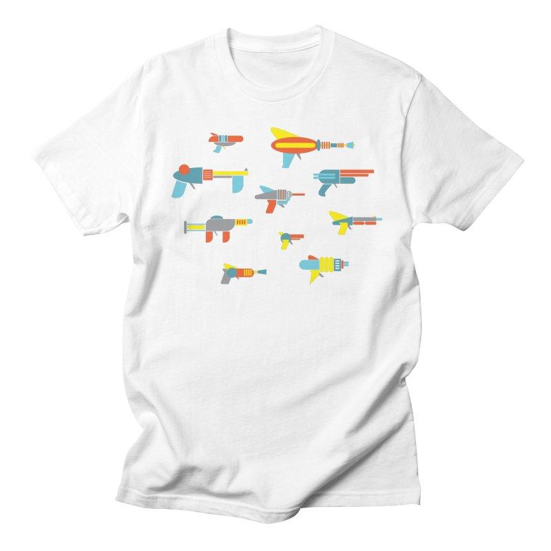 Space Guns in Space Men's T-shirt by Rick Hill Studio's Artist Shop