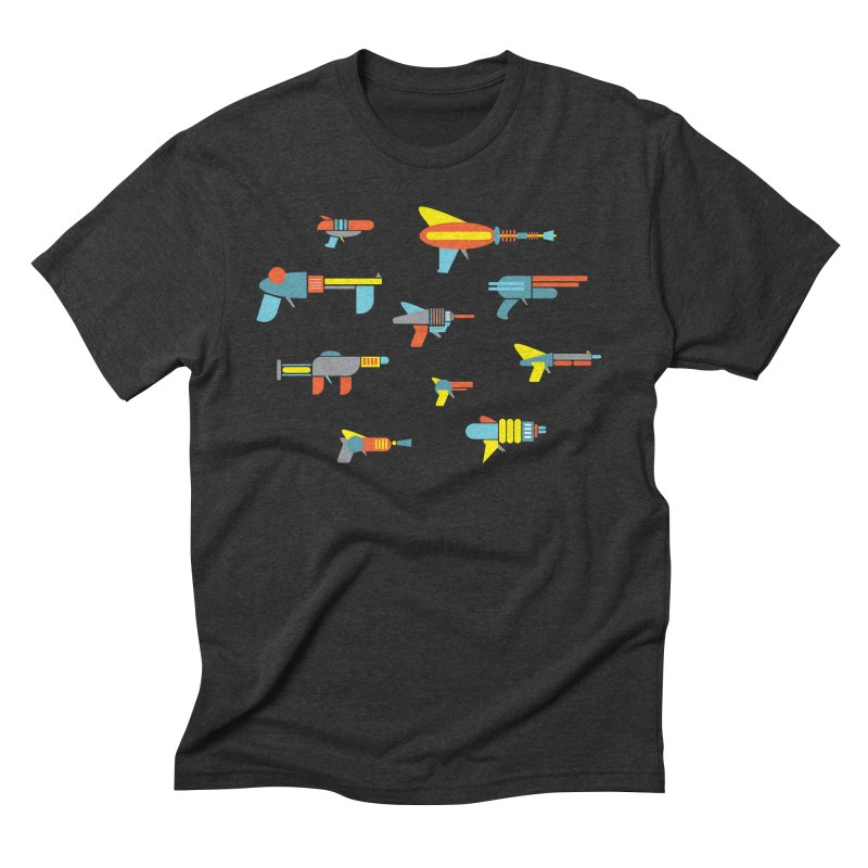 Space Guns in Space Men's Triblend T-Shirt by Rick Hill Studio's Artist Shop