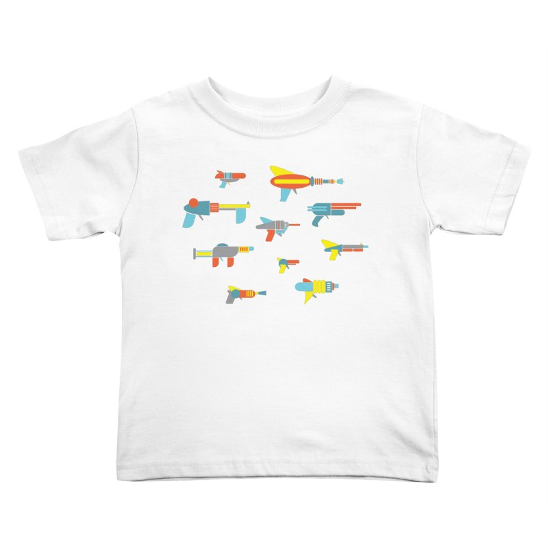 Space Guns in Space Kids Toddler T-Shirt by Rick Hill Studio's Artist Shop