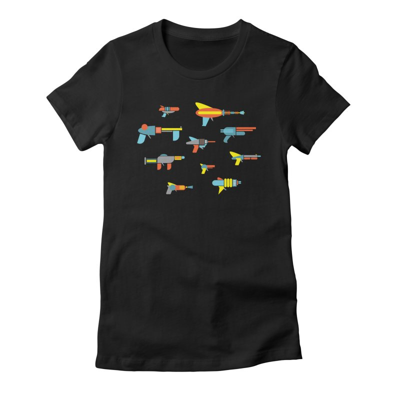 Space Guns in Space Women's T-Shirt by Rick Hill Studio's Artist Shop