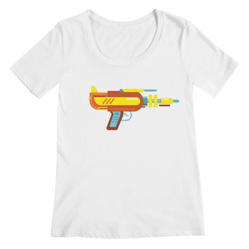 Space Gun One Women's Regular Scoop Neck by Rick Hill Studio's Artist Shop