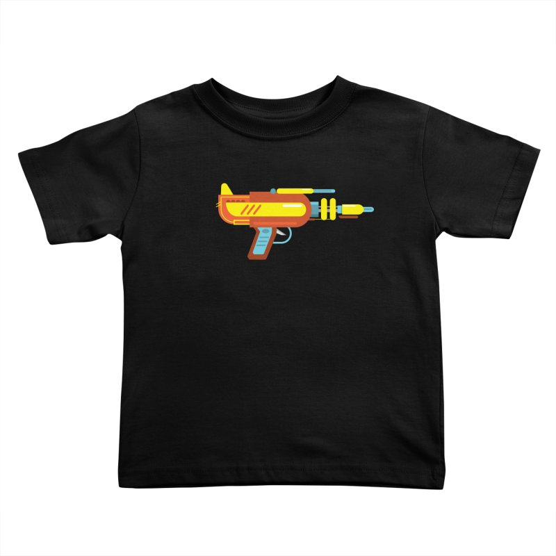 Space Gun One Kids Toddler T-Shirt by Rick Hill Studio's Artist Shop