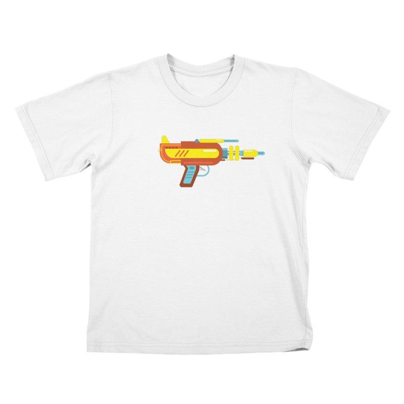 Space Gun One Kids T-Shirt by Rick Hill Studio's Artist Shop