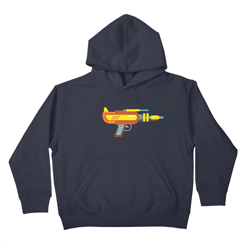Space Gun One Kids Pullover Hoody by Rick Hill Studio's Artist Shop