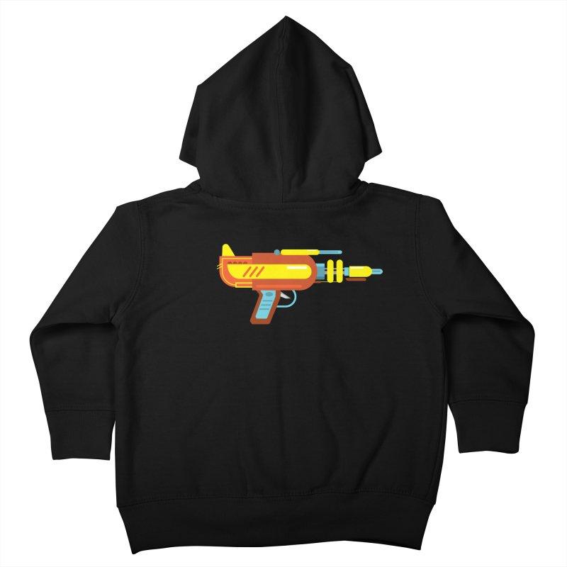 Space Gun One Kids Toddler Zip-Up Hoody by Rick Hill Studio's Artist Shop
