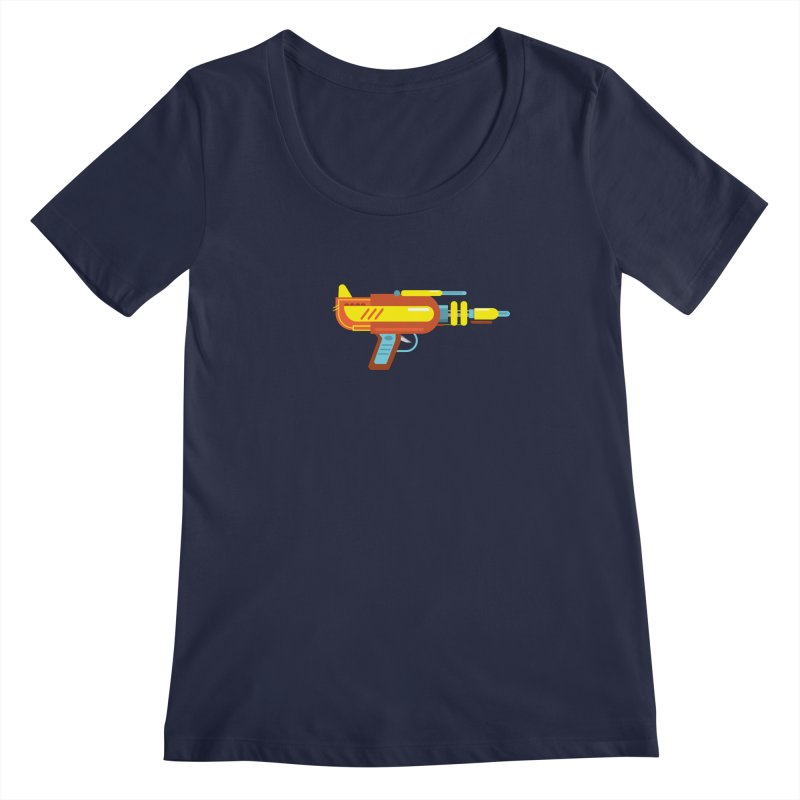 Space Gun One Women's Scoopneck by Rick Hill Studio's Artist Shop
