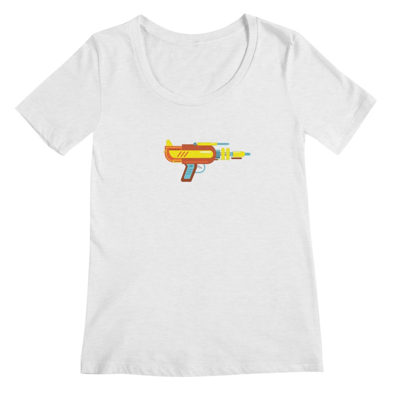Space Gun One Women's Regular Scoop Neck by Rick Hill Studio's Artist Shop