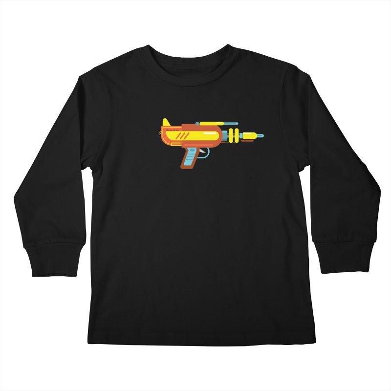 Space Gun One Kids Longsleeve T-Shirt by Rick Hill Studio's Artist Shop