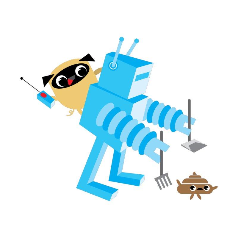 Pug & Poo Robot Fun Time Men's T-shirt by Rick Hill Studio's Artist Shop