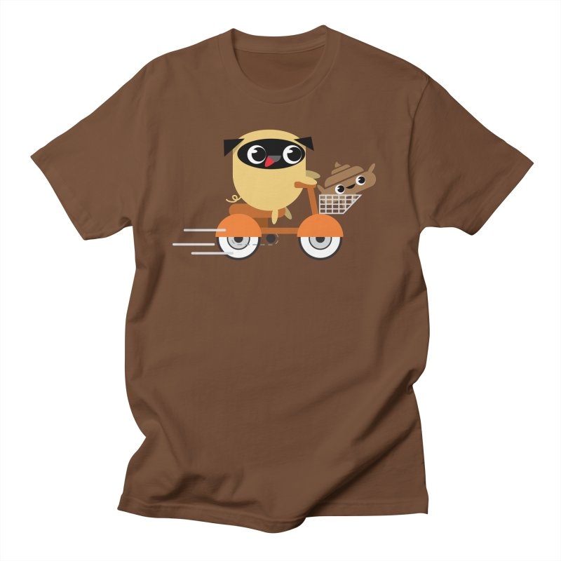 Pug & Poo Scootin' Around Men's T-shirt by Rick Hill Studio's Artist Shop