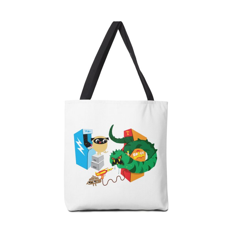 Pug & Poo Space Worms Accessories Tote Bag Bag by Rick Hill Studio's Artist Shop