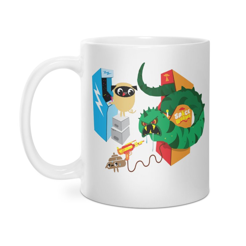 Pug & Poo Space Worms Accessories Mug by Rick Hill Studio's Artist Shop