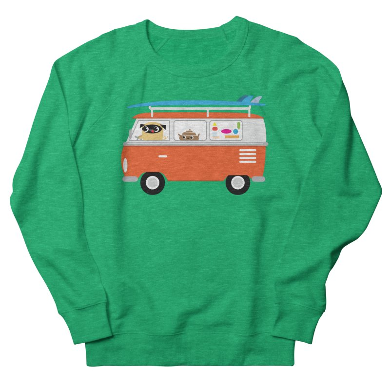Pug & Poo Surfs Up Women's Sweatshirt by Rick Hill Studio's Artist Shop