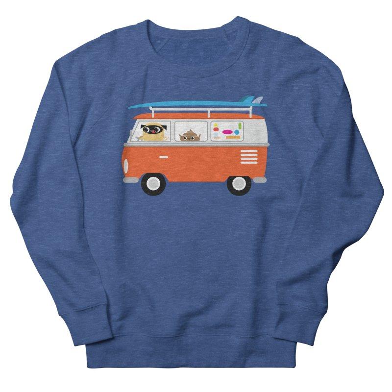 Pug & Poo Surfs Up Men's Sweatshirt by Rick Hill Studio's Artist Shop