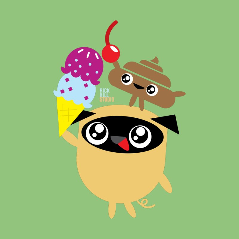Pug & Poo Ice Cream Dreamin' by Rick Hill Studio's Artist Shop