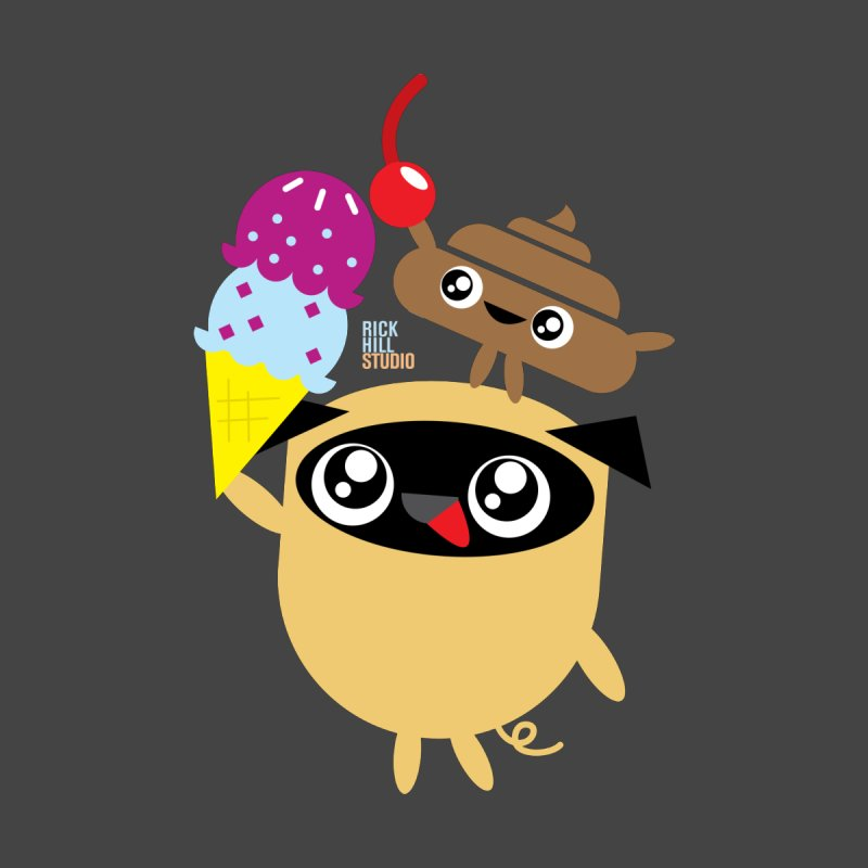 Pug & Poo Ice Cream Deamin' by Rick Hill Studio's Artist Shop