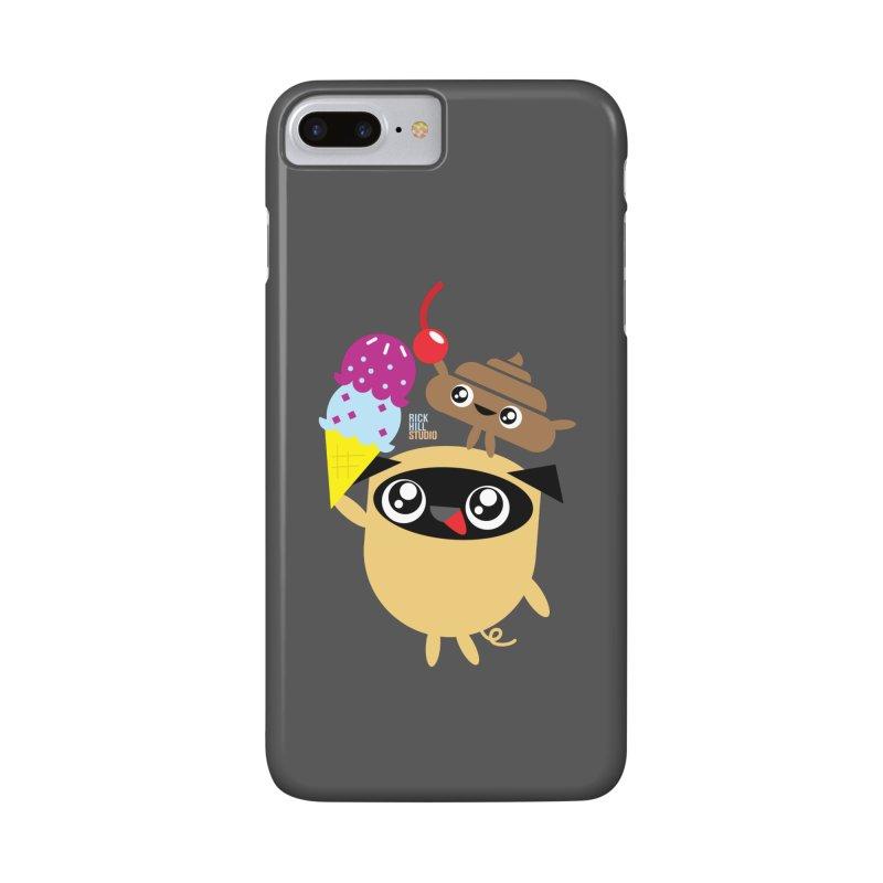 Pug & Poo Ice Cream Deamin' Accessories Phone Case by Rick Hill Studio's Artist Shop