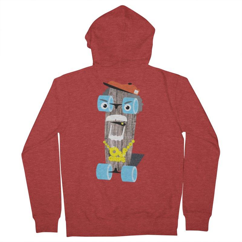 """OJ Grips aka """"Town Legend"""" Men's Zip-Up Hoody by Rick Hill Studio's Artist Shop"""