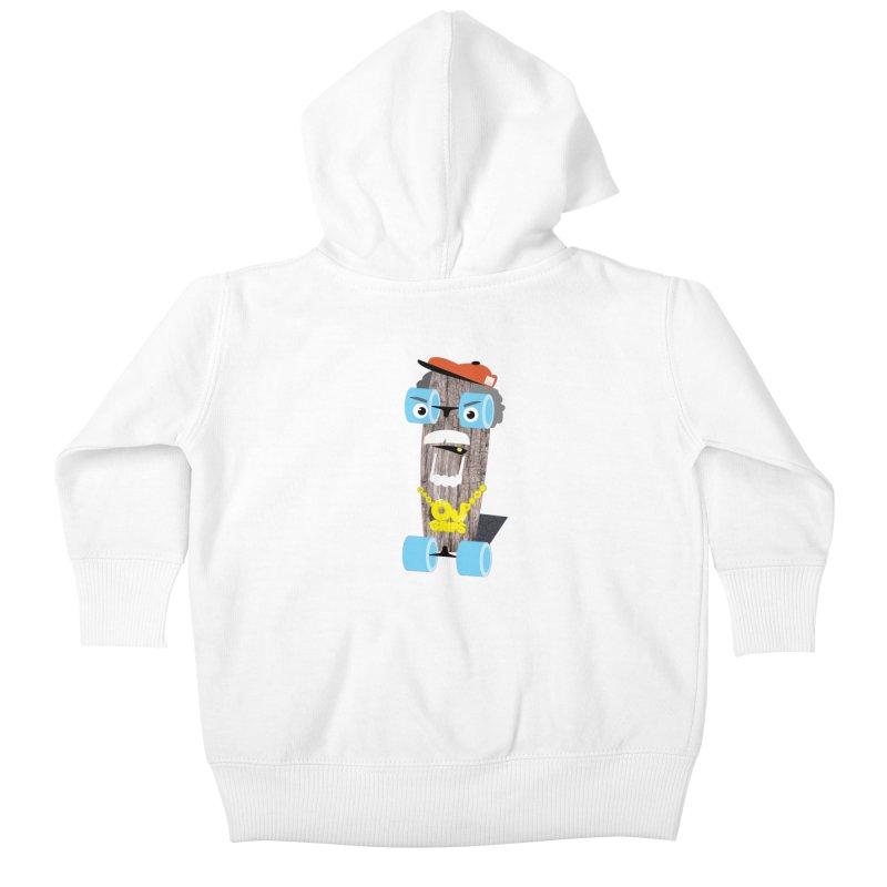 "OJ Grips aka ""Town Legend"" Kids Baby Zip-Up Hoody by Rick Hill Studio's Artist Shop"