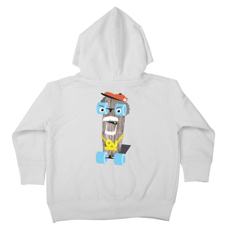"OJ Grips aka ""Town Legend"" Kids Toddler Zip-Up Hoody by Rick Hill Studio's Artist Shop"