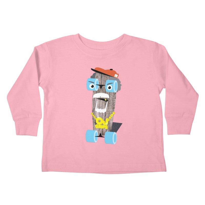 """OJ Grips aka """"Town Legend"""" Kids Toddler Longsleeve T-Shirt by Rick Hill Studio's Artist Shop"""