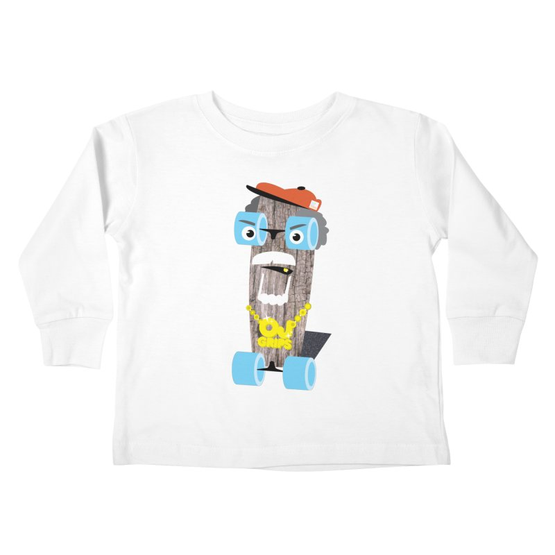 "OJ Grips aka ""Town Legend"" Kids Toddler Longsleeve T-Shirt by Rick Hill Studio's Artist Shop"