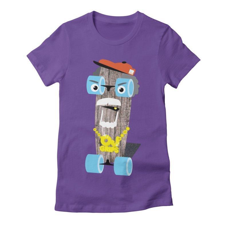 "OJ Grips aka ""Town Legend"" Women's Fitted T-Shirt by Rick Hill Studio's Artist Shop"