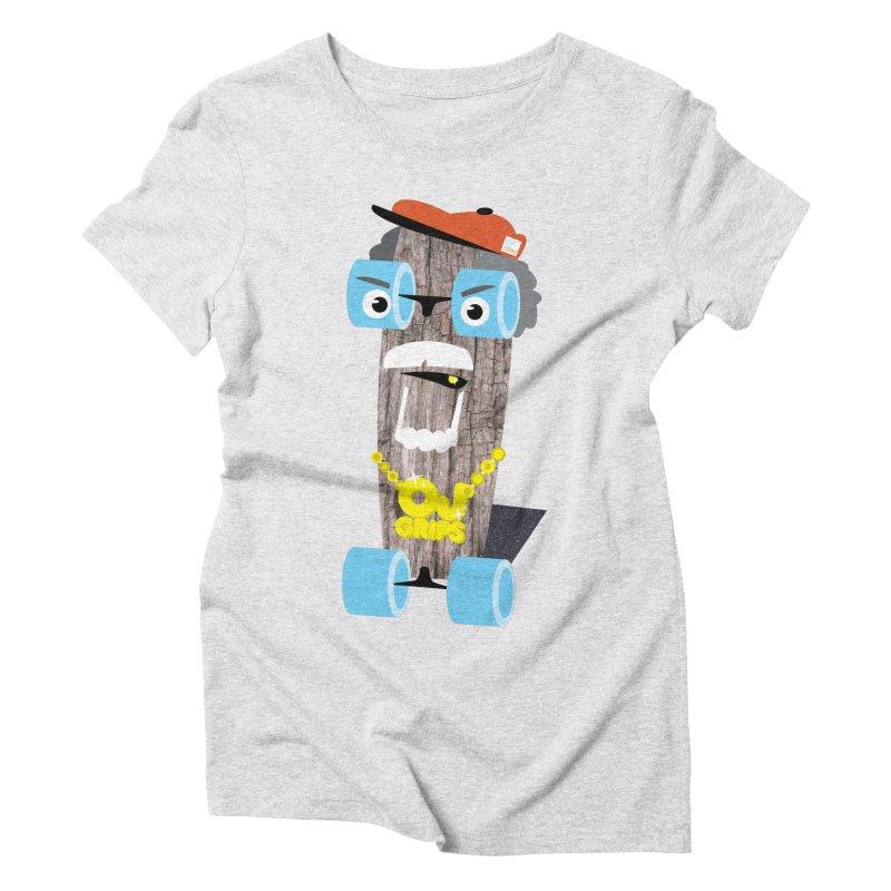 "OJ Grips aka ""Town Legend"" Women's Triblend T-Shirt by Rick Hill Studio's Artist Shop"