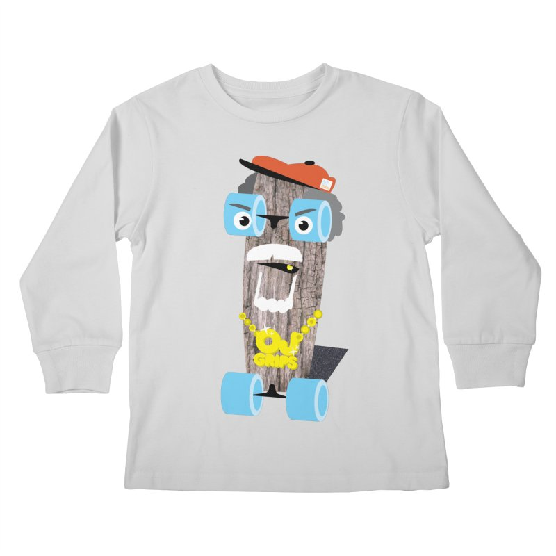 "OJ Grips aka ""Town Legend"" Kids Longsleeve T-Shirt by Rick Hill Studio's Artist Shop"