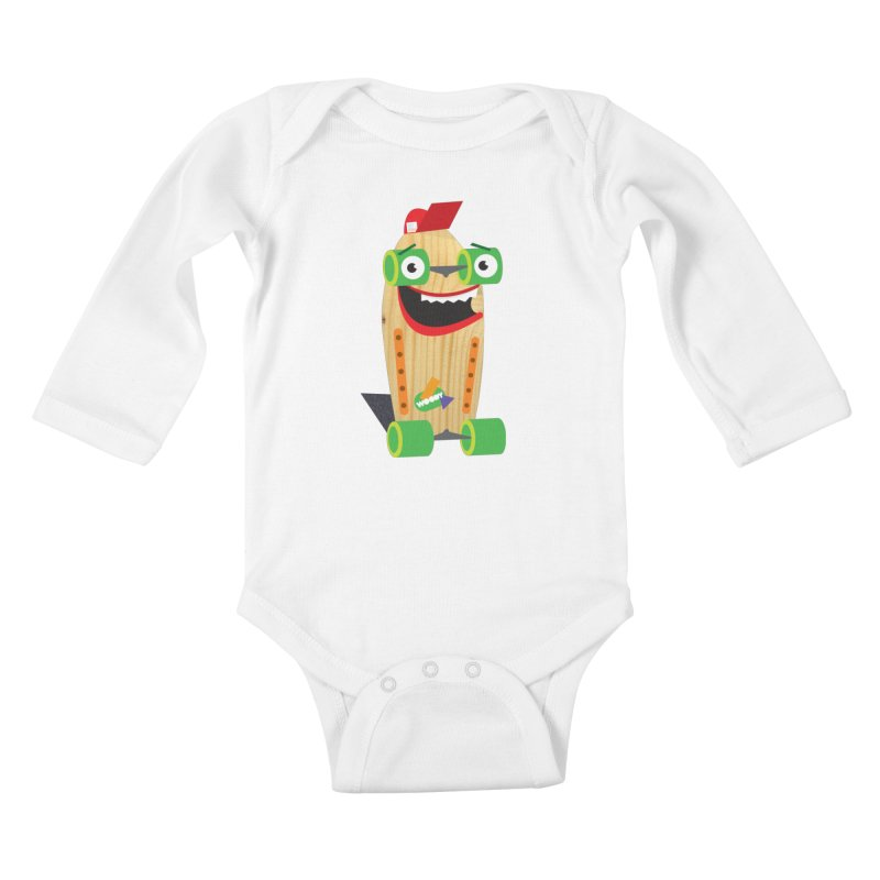"Woody ""Good Time"" Wheels Kids Baby Longsleeve Bodysuit by Rick Hill Studio's Artist Shop"