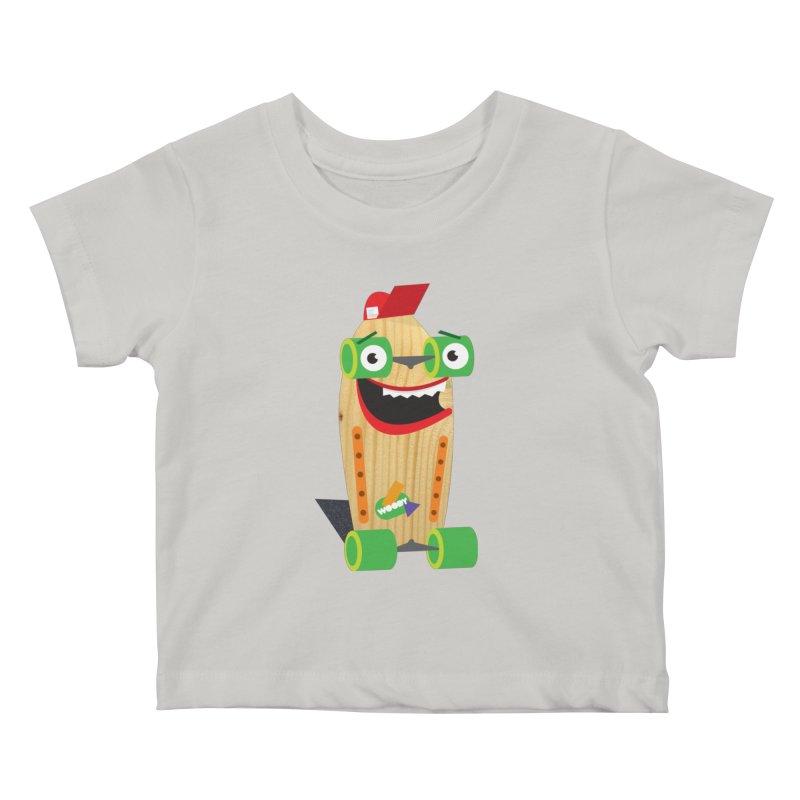 "Woody ""Good Time"" Wheels Kids Baby T-Shirt by Rick Hill Studio's Artist Shop"