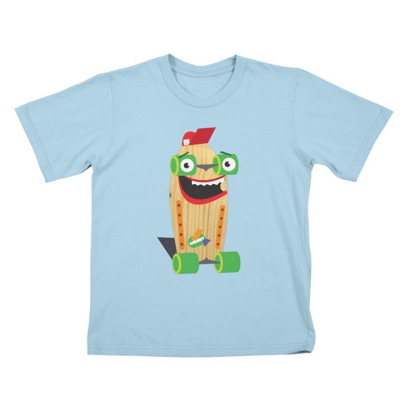 "Woody ""Good Time"" Wheels Kids T-Shirt by Rick Hill Studio's Artist Shop"