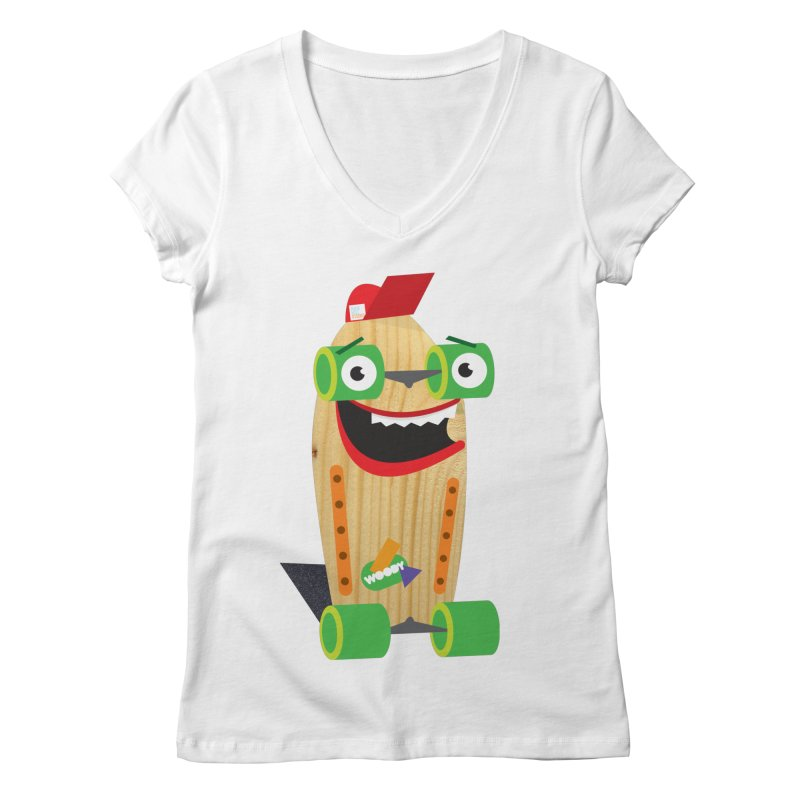 "Woody ""Good Time"" Wheels Women's V-Neck by Rick Hill Studio's Artist Shop"