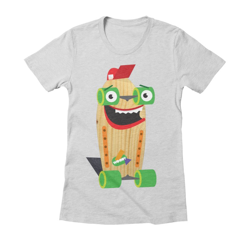 """Woody """"Good Time"""" Wheels Women's Fitted T-Shirt by Rick Hill Studio's Artist Shop"""