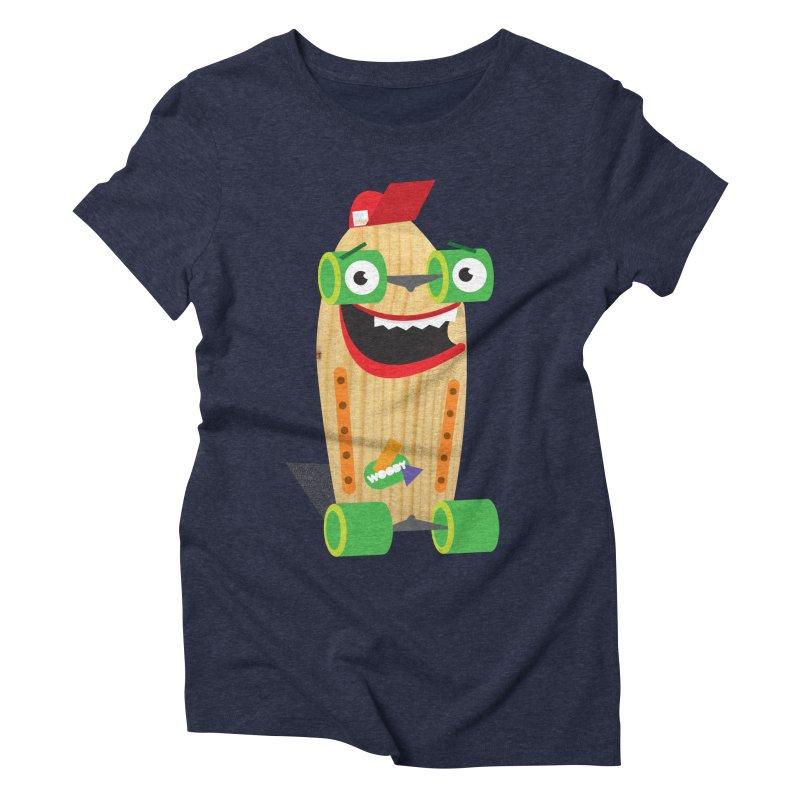 "Woody ""Good Time"" Wheels Women's Triblend T-Shirt by Rick Hill Studio's Artist Shop"