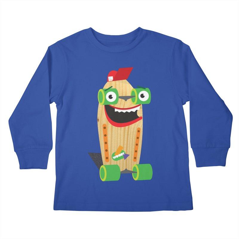 "Woody ""Good Time"" Wheels Kids Longsleeve T-Shirt by Rick Hill Studio's Artist Shop"