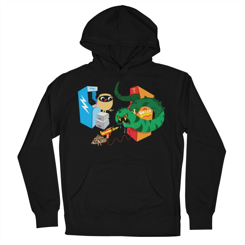 Pug & Poo Space Worms Women's Pullover Hoody by Rick Hill Studio's Artist Shop