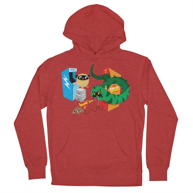 Pug & Poo Space Worms Men's Pullover Hoody by Rick Hill Studio's Artist Shop