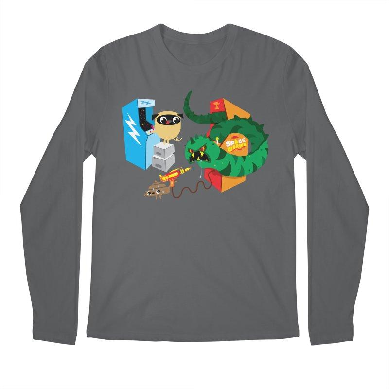 Pug & Poo Space Worms Men's Regular Longsleeve T-Shirt by Rick Hill Studio's Artist Shop