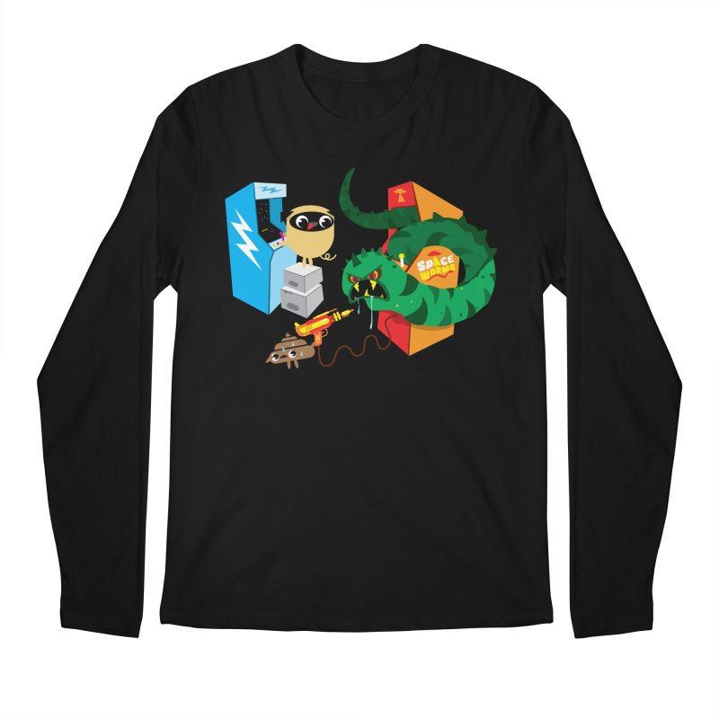 Pug & Poo Space Worms Men's Longsleeve T-Shirt by Rick Hill Studio's Artist Shop