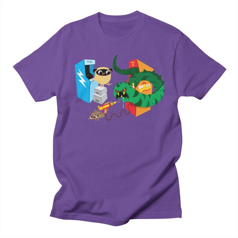Pug & Poo Space Worms Men's T-Shirt by Rick Hill Studio's Artist Shop