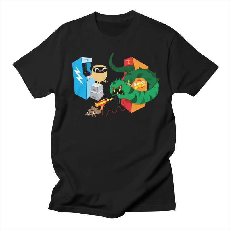 Pug & Poo Space Worms Men's T-shirt by Rick Hill Studio's Artist Shop